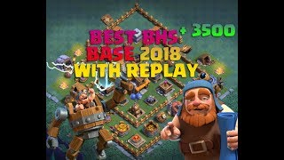 BEST Builder Hall 5 BASE  ANTI 1 STAT  (BH5) 2018 + Replay Proof With +3500 Trophies CLASH OF CLAN