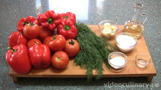 Лёгкий Салат из болгарского перца - Рецепт  Бабушки Эммы