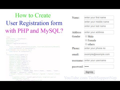 How to Create User Registration form with PHP and MySQL? [With Source Code]