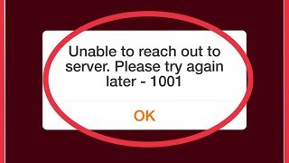 Fix JioTv Error || Unable to reach out to server. Please try again later - 1001 Problem Solve