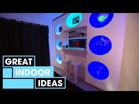 Futuristic Man-Cave Makeover   Indoor   Great Home Ideas
