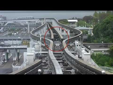 Japanese Railway Monorail Track Changing Mechanism | Japanese Railroads | Osaka Monorail | JR pass