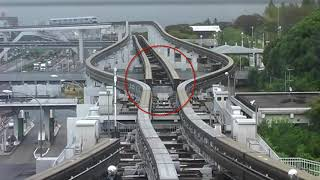 Japanese Railway Monorail Track Changing Mechanism | Japanese Railroads | Osaka Monorail | JR pass