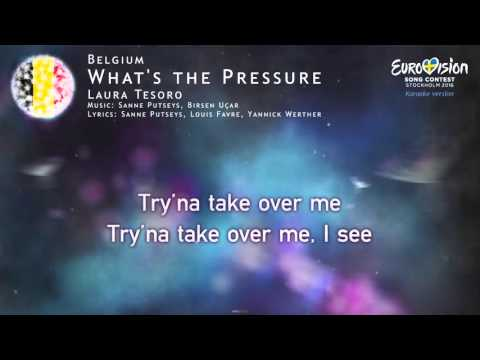 Laura Tesoro - What's the Pressure (Belgium) - [Karaoke version]