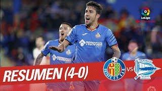 Resumen de Getafe CF vs Deportivo Alavés (4-0)