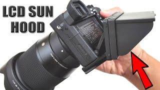 Sony Mirrorless Camera LCD Sun Hood/Shade (Sony A6000/A6300/A6500) [4K] 21:9