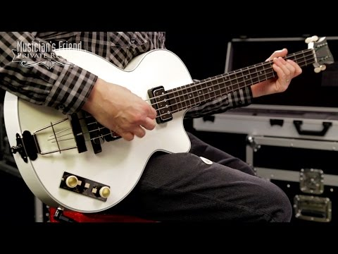 Hofner Gold Label Limited Edition Club Bass, White