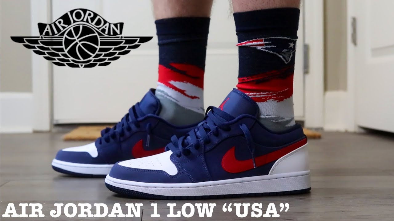"ON FEET OF THE AIR JORDAN 1 LOW ""USA"