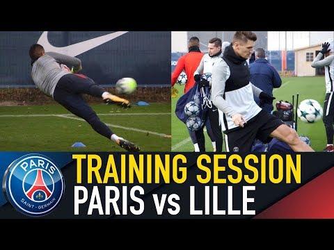 TRAINING SESSION - ENTRAINEMENTS - PARIS SAINT-GERMAIN vs LILLE