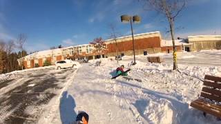 Banshee Bungee Urban Skiing: School Bench Session