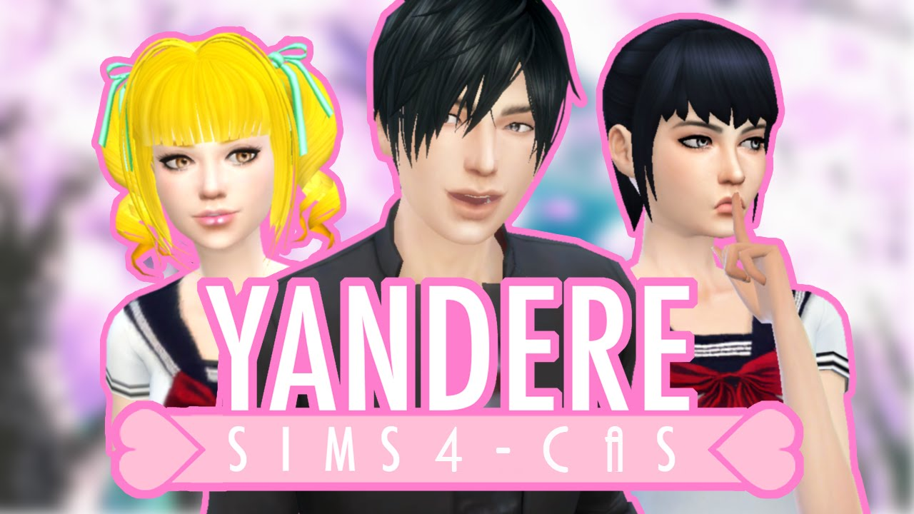 The Sims 4 Create A Sim Yandere Youtube