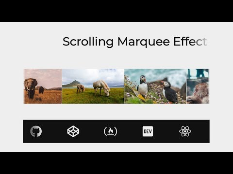 Marquee-like Content Scrolling (HTML & CSS) - YouTube