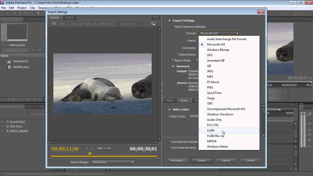 how to export video premiere pro