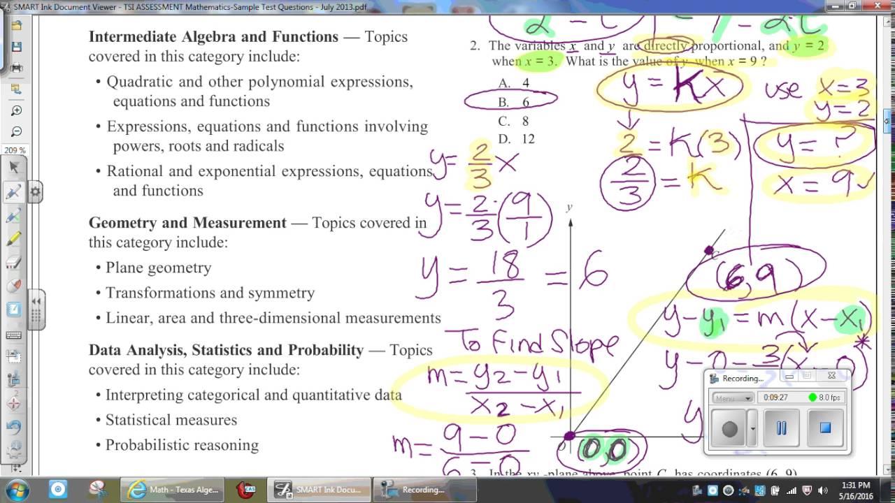 TSI Sample Questions PAPER EXAM - YouTube