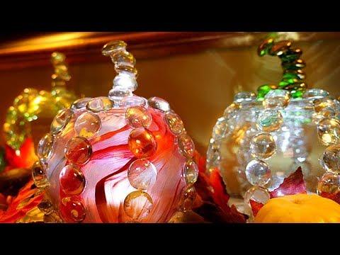 DIY | Dollar Tree Glass Pumpkins