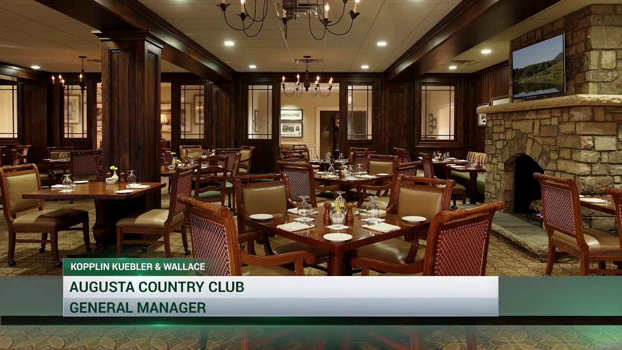 general manager career opportunity at augusta country club - youtube
