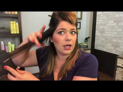 How I Straighten My Hair With A Brush!