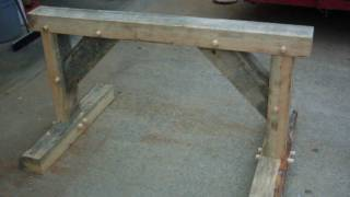 Timber Frame Sawhorse, Layout-cutting-joining Slideshow