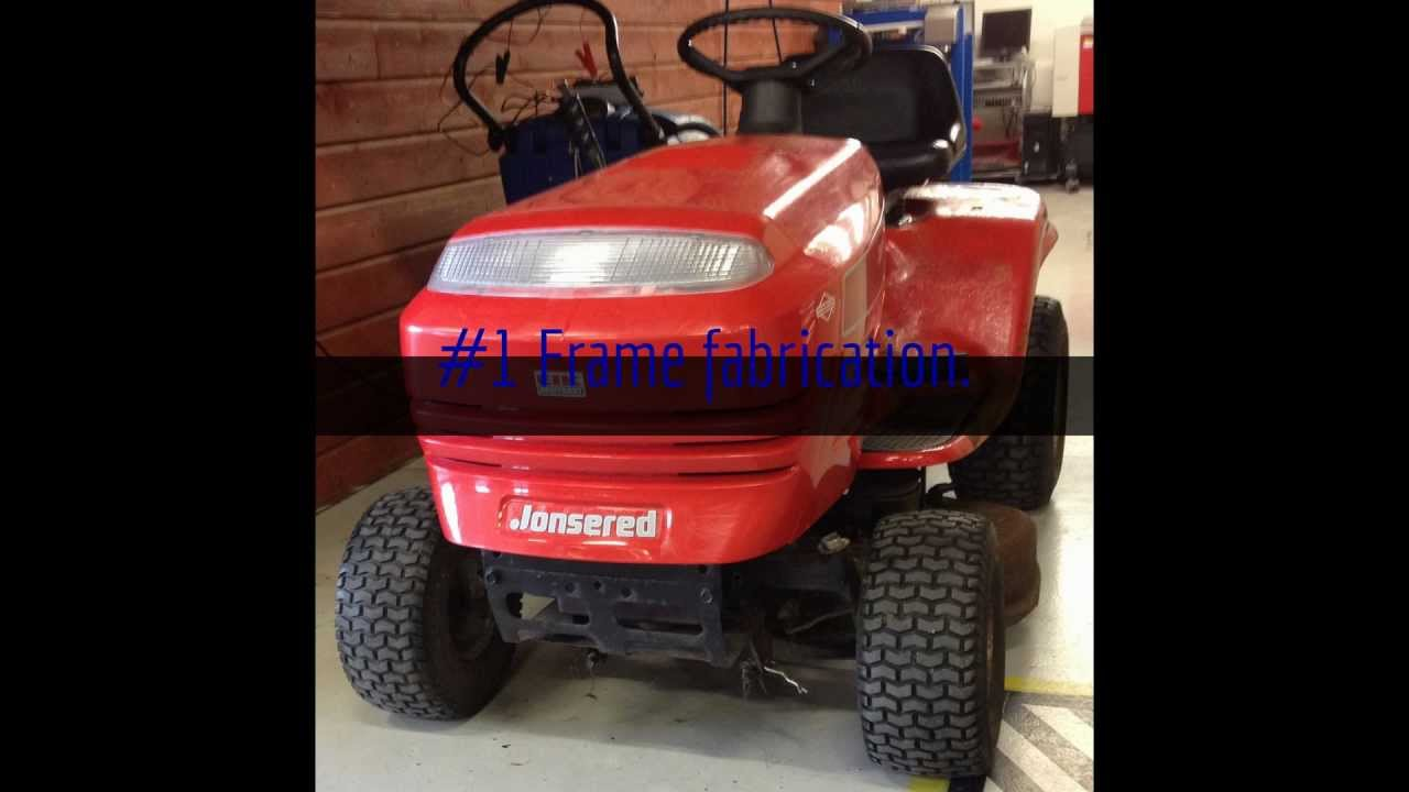 Lawn Mower Racing >> Converting a Craftsman Lawn Mower to a Racing Mower #1 - The new Frame - YouTube