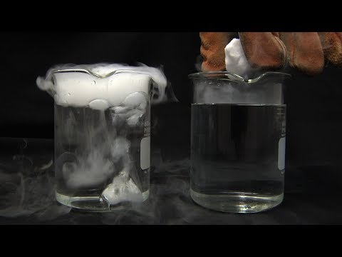 Liquid Nitrogen Cooled Dry Ice In Water!