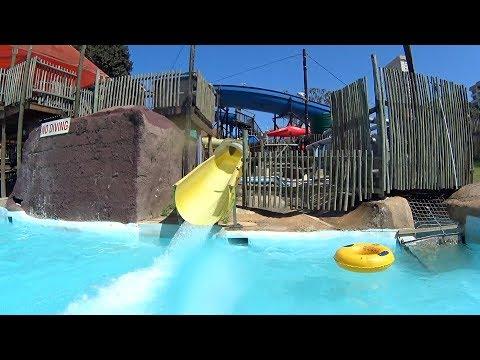 Little Yellow Water Slide at Splash Waterworld