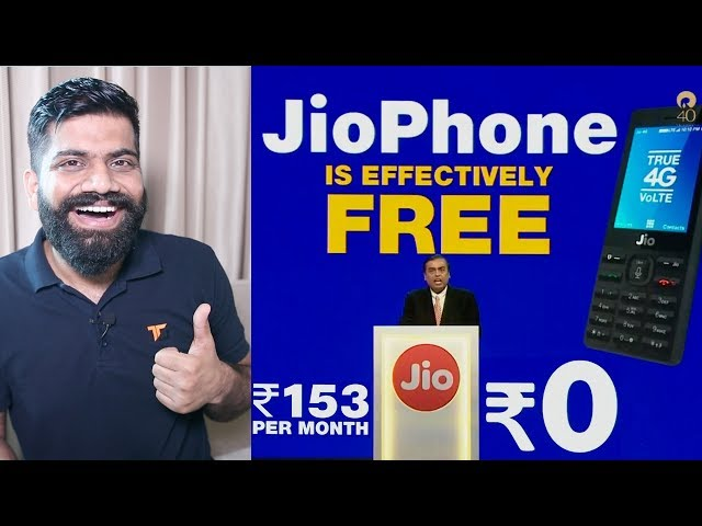 JioPhone Launched - Price FREE ₹0 - Plans and Availability - India ka Smartphone