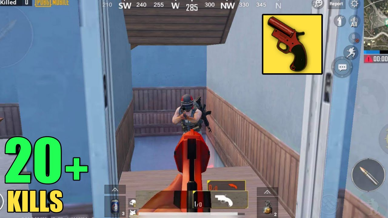 NO WEAPONS!!   CAN I WIN WITH FLARE GUN   PUBG MOBILE