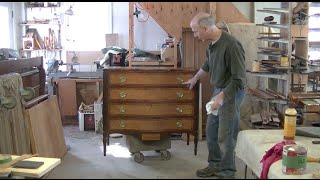 New Banding For An Antique Federal Chest Of Drawers - Thomas Johnson Antique Furniture Restoration