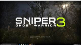 how to change language of sniper ghost warrior 3