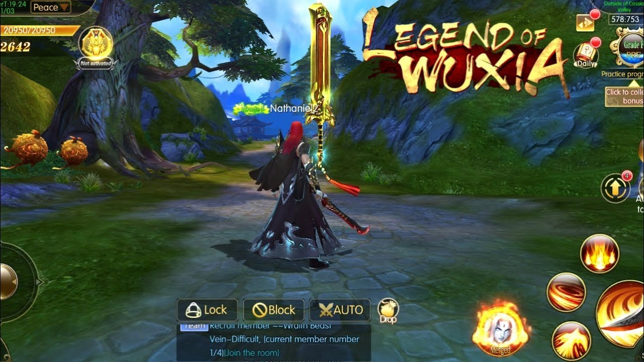 Legend OF Wuxia Gameplay (OPEN WORLD MMORPG) Android/IOS