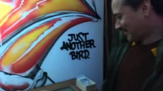 IROT. Just Another Bird. Bay Area graffiti street art @ Naming Gallery.