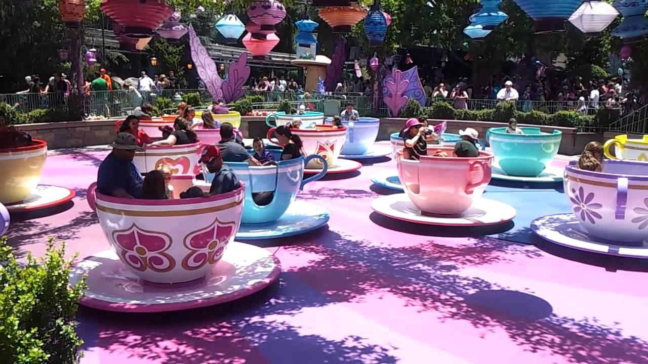 Disneyland Teacups aka the Mad Hatter's Tea Party - YouTube