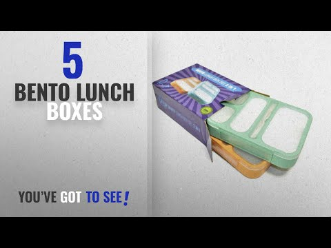 Best Bento Lunch Boxes [2018]: Leakproof Bento Lunch Box Set With 5 Compartments | 2 Food Prep &