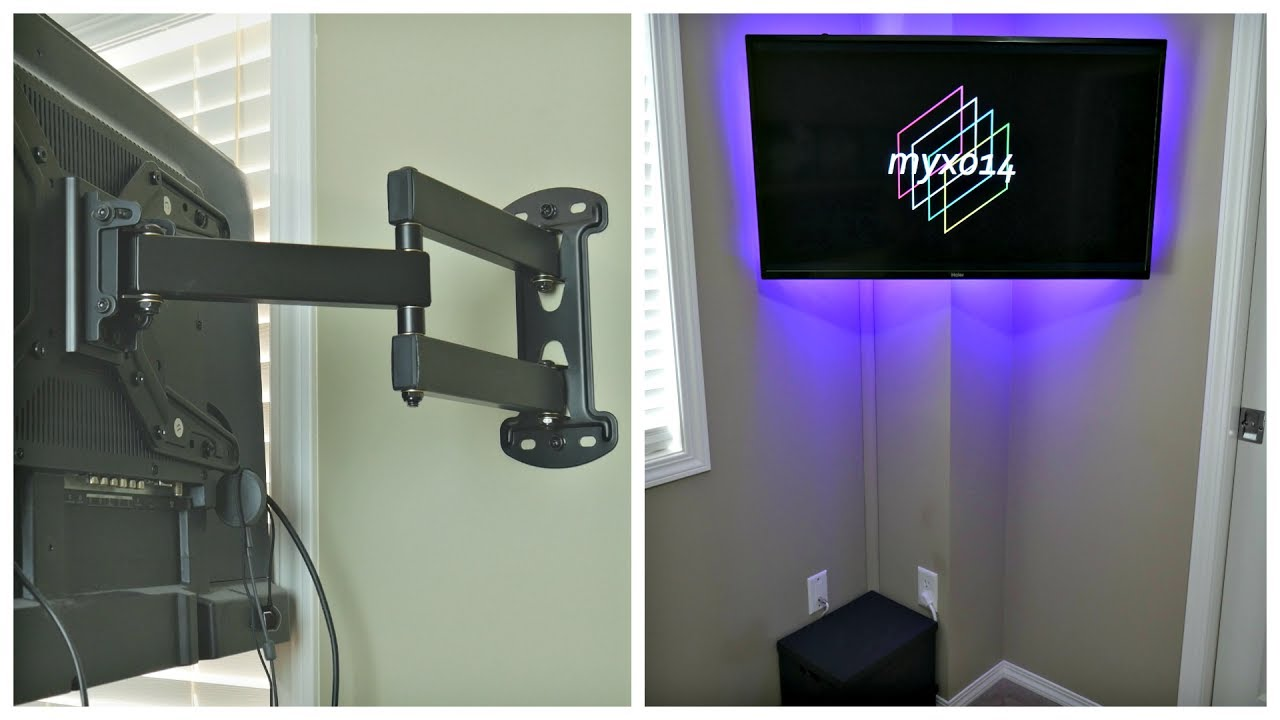 minimalist tv cable management tutorial how to hide tv wires without cutting holes in your. Black Bedroom Furniture Sets. Home Design Ideas
