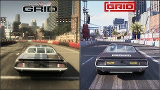 race Driver: GRID vs GRID 2019 - San Francisco Grand Prix Circuit Comparison 4K 60FPS
