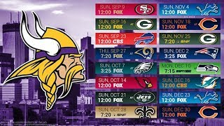 Minnesota Vikings 2018 NFL Schedule Predictions/Outcomes