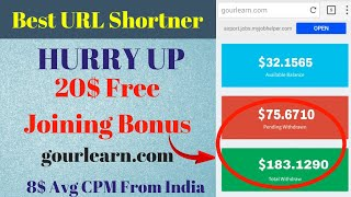 WOW 🤑 High CPM Best Link Shortener Website