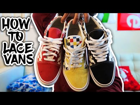 How To : Lace Vans