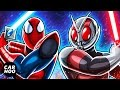 SPIDERMAN vs ANTMAN part 02 Animated Superheroes Masked Rider Ultraman Parody