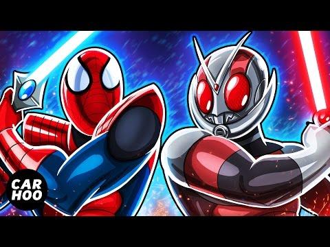 MASKED SPIDER Ep03 - Spider-man vs Antman Sword Fight !!!! 【Marvel's Spider-man Parody】