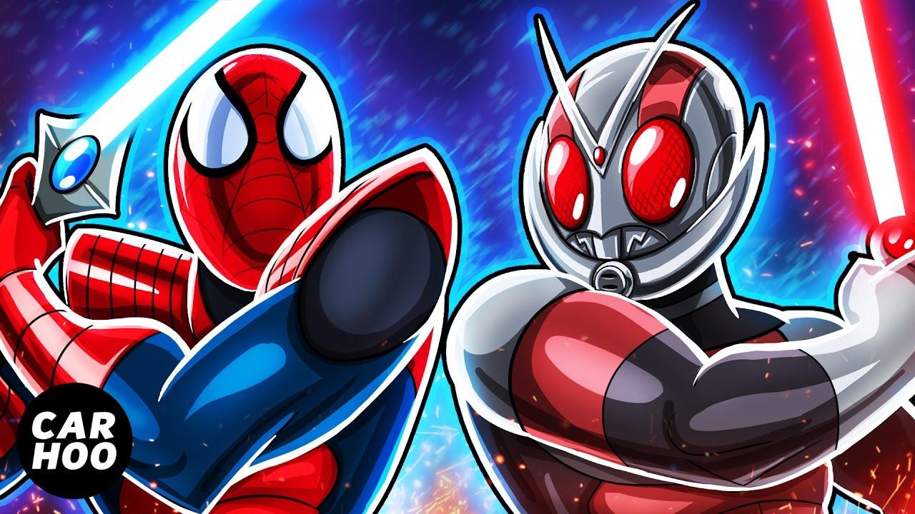 Spiderman Vs Antman Part 02 Animated Superheroes Masked Rider