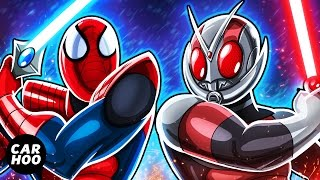 MASKED SPIDER Ep03 - Spider-man vs Antman Sword Fight !!!! 【Marvel's Spider-man Parody】