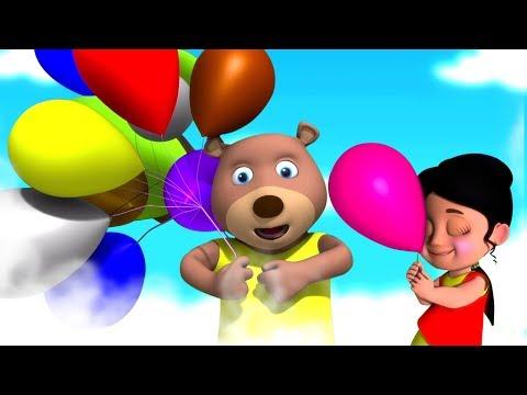 गुब्बारे वाला | Main Gubbare Wala Hu | Hindi 3D Rhymes | Hindi Nursery Rhymes | Kids TV India