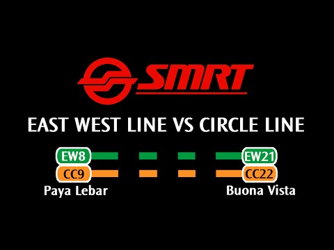 SMRT - East West Line VS Circle Line: Paya Lebar → Buona Vista