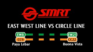SMRT - East West Line VS Circle Line: Paya Lebar → Buona Vista