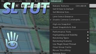 Second Life Tutorial - Enable SL viewer advanced menue featurers - ctrl+alt+d