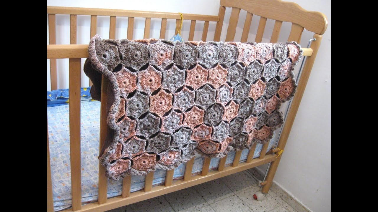 Hexagon baby blanket crochet tutorial youtube bankloansurffo Image collections