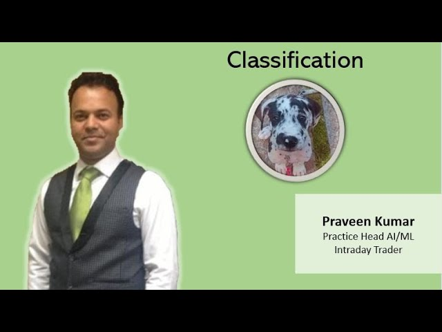 Classification in Machine Learning / AI for Datascientists
