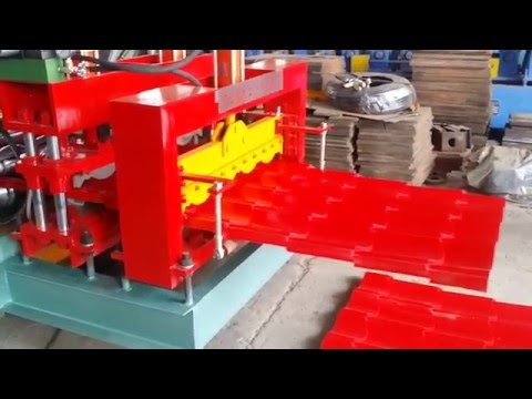 Best price color coated steel roof tile making machine for sale