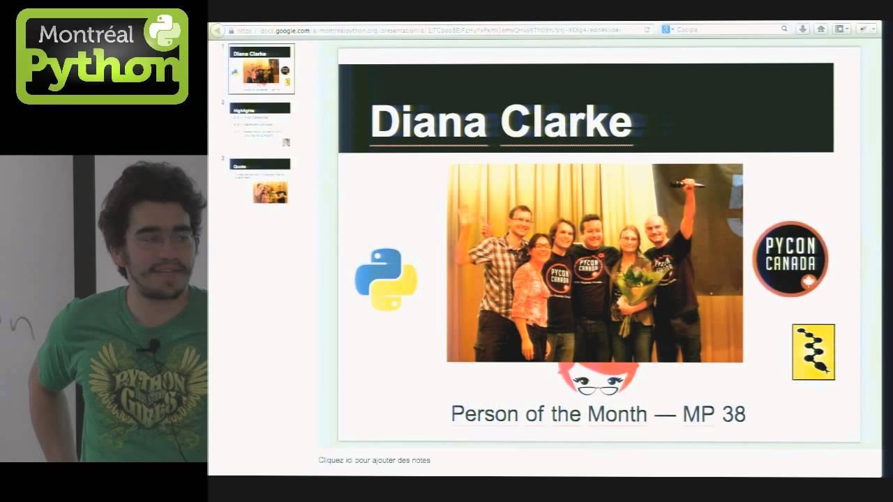 Image from La personne du mois: Diana Clarke